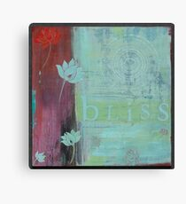 Bliss yoga inspired art for your home or workplace Canvas Print