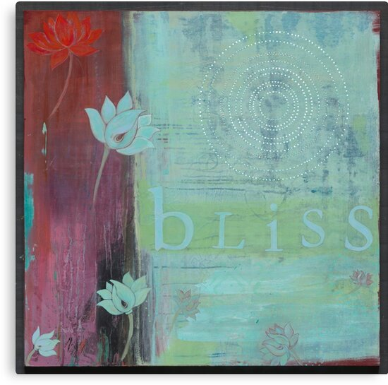 Bliss yoga inspired art for your home or workplace by JodiFuchsArt