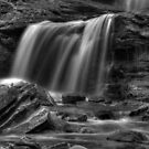 Tuscarora Falls, detail #1 by Aaron Campbell
