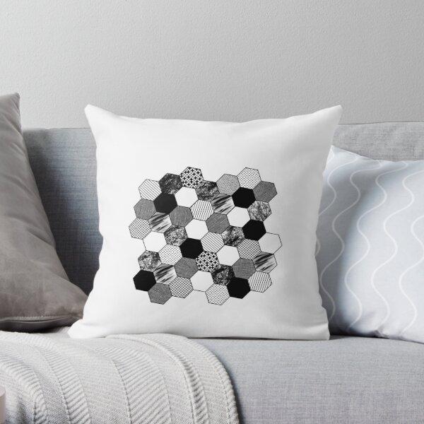 Black and white tiles Throw Pillow