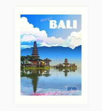 Bali-Reiseplakat im Vintage-Stil Kunstdruck