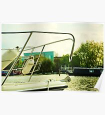 Boat on Brayford Wharf Poster