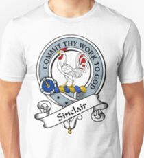00086 Sinclair Clan Tartan  Unisex T-Shirt