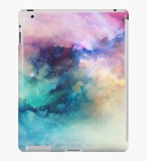 Hübsche bunte rosa und türkisfarbene Neonwolken III iPad-Hülle & Klebefolie
