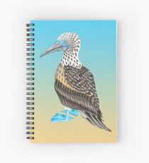 Blue Footed Booby Totem Spiral Notebook