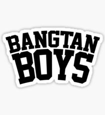 BTS/Bangtan Boys - University/Football Style Sticker