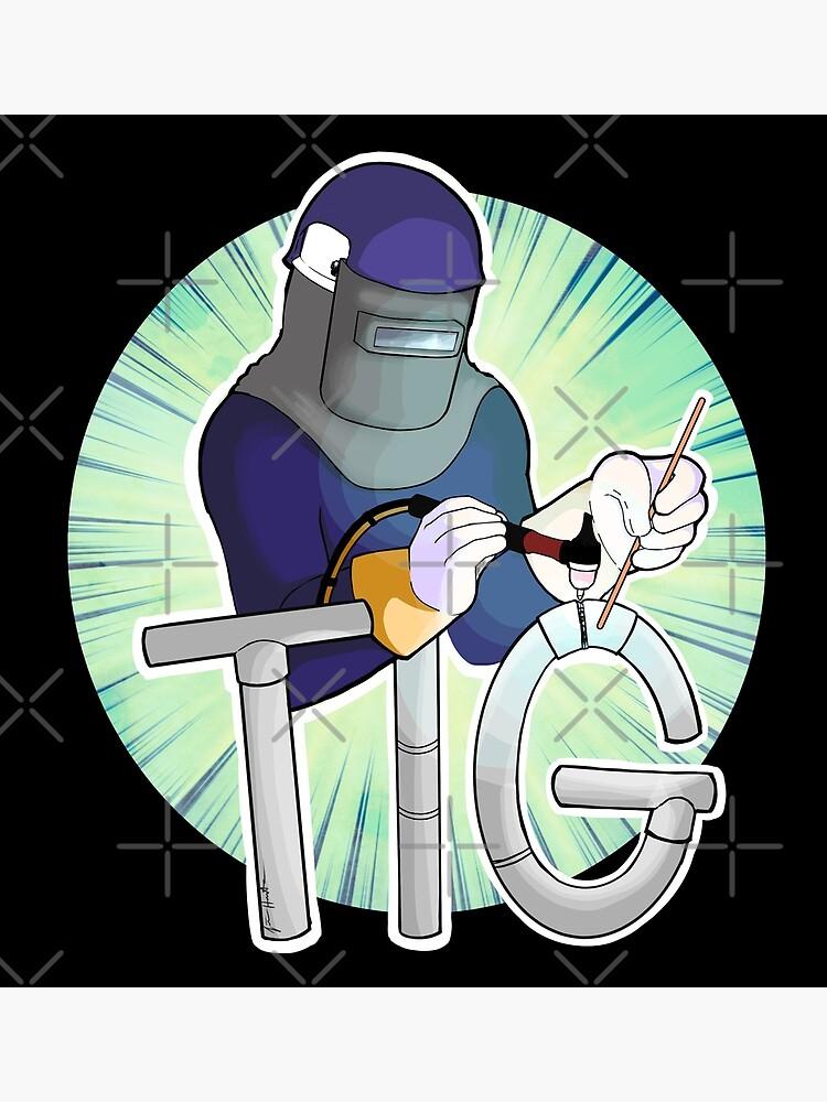 Tig Welding Cartoon