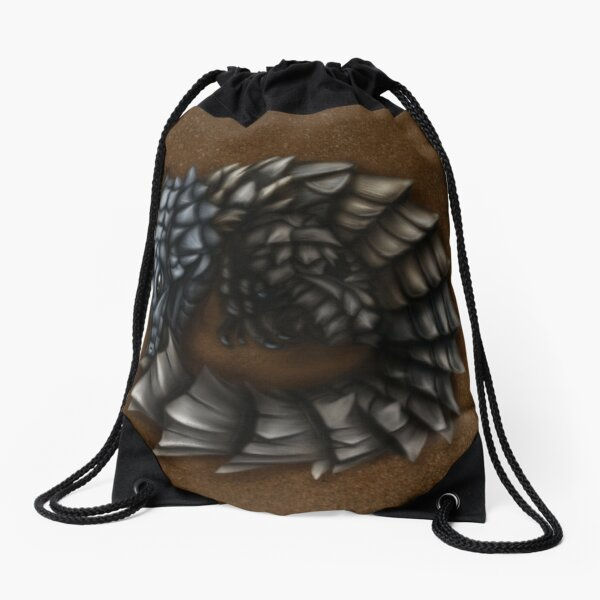 Girdled Armadillo Lizard Drawstring Bag