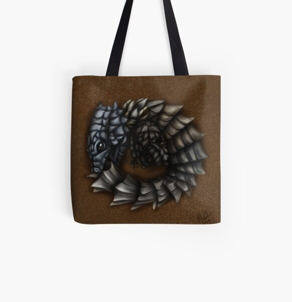 Girdled Armadillo Lizard All Over Print Tote Bag