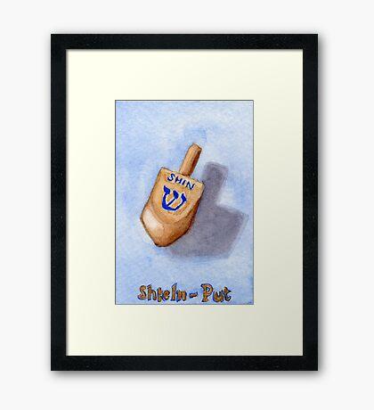 Dreidel - Shin, Shteln, Put Framed Print