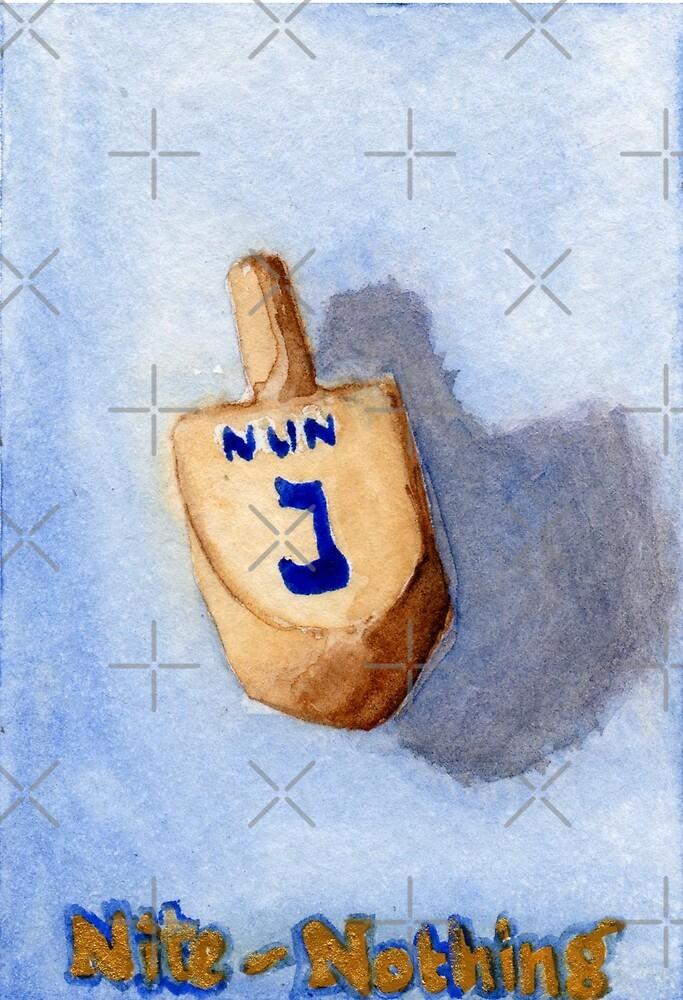 Dreidel - Nun, Nite, Nothing by Amy-Elyse Neer