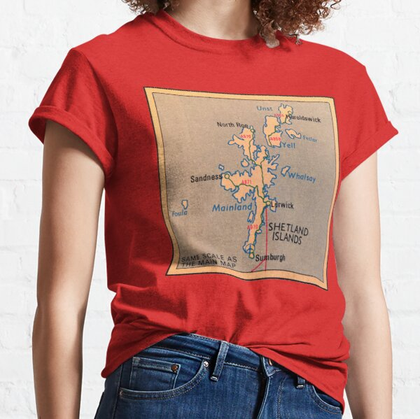 Shetland Islands map Classic T-Shirt