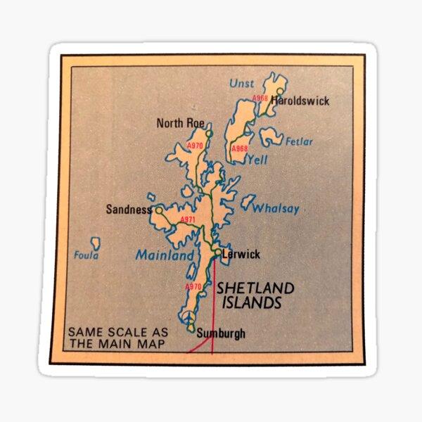 Shetland Islands map Sticker