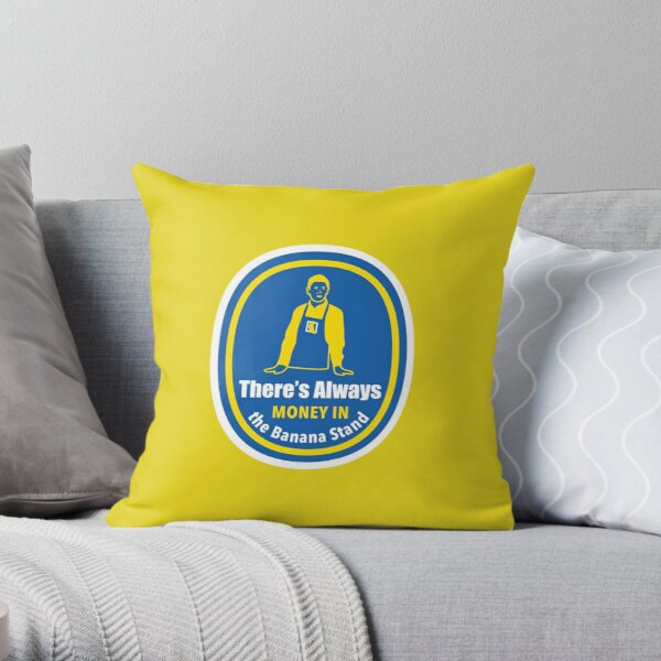 Banana Stand Throw Pillow