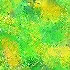 Yellow Green Splattered Paint FashionWear Design by Shan Shankaran