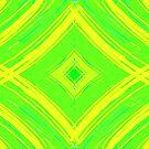 Green Yellow Striped Pattern Design by Shan Shankaran