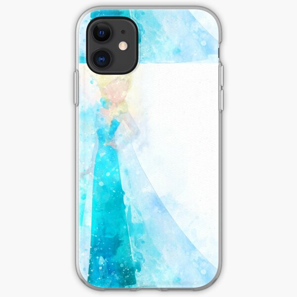 Snow Queen Inspired Watercolor iPhone Soft Case