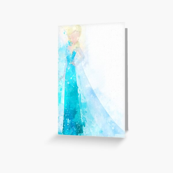 Snow Queen Inspired Watercolor Greeting Card