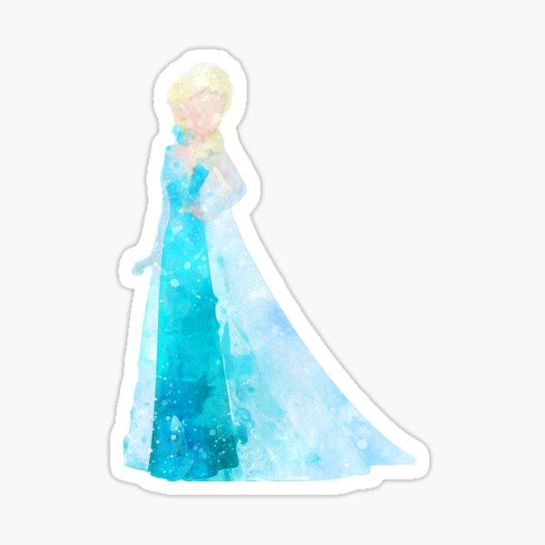 Snow Queen Inspired Watercolor Sticker