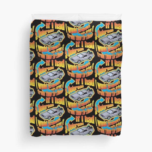 Delorean Time Travel One Liner Duvet Cover