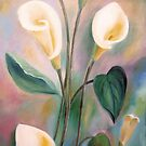 Calla Lilies- Oil Painting by Esperanza Gallego
