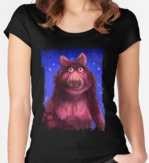 Muppet Maniacs - Ms. Piggy as Carrie Women's Fitted Scoop T-Shirt