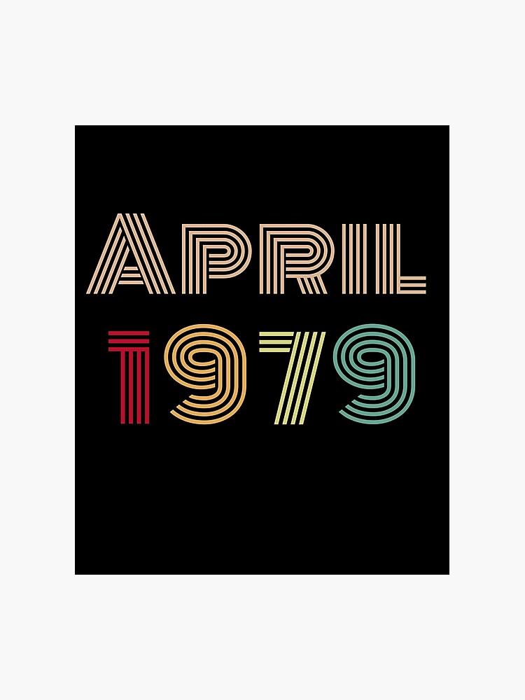 Imagenes De Cumpleanos Numero 40.Feliz Cumpleanos Numero 40 Feliz Cumpleanos Nacido En Abril De 1979 Lamina Fotografica