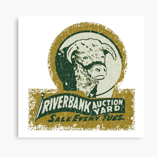 Riverbank Cattle Auctions Canvas Print