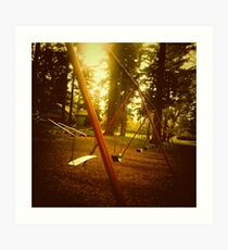 Swings - Laurelhurst Park Portland Oregon Art Print
