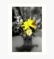 sunshine through the grey Art Print