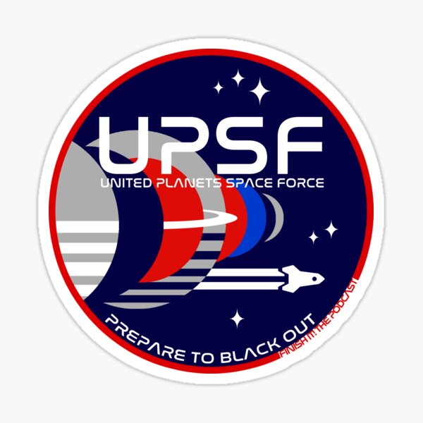 Space Force Logo - Prepare to Black Out Sticker