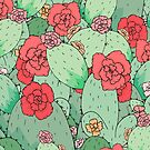 Kaktus-Blumen von steveswade