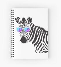 Zebra mit Sonnenbrille Shirt Witziges Hipster Zebra Spiralblock