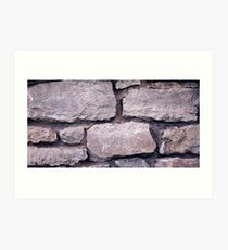 Another rock in the wall Art Print