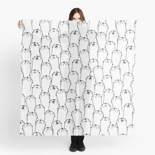 Otter pattern Scarf