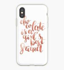 Chocolate is a girl's best friend iPhone Case