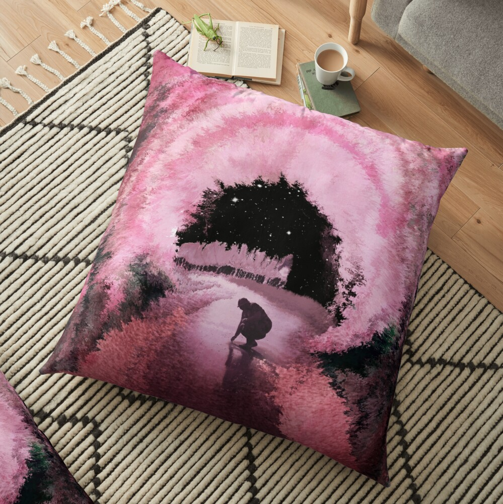 Hanami Nights (Yozakura) Floor Pillow