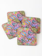 Strong tea abstraction Coasters
