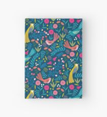 Tropical birds and flowers Hardcover Journal