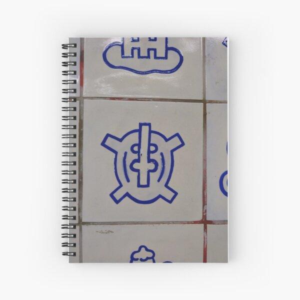 New York City, Subway Station, illustration, symbol, sign  Spiral Notebook