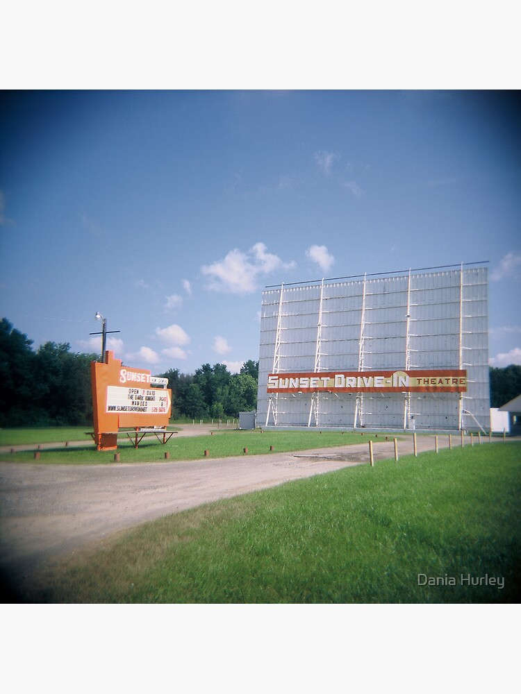 The Sunset Drive In Theater Mansfield Ohio Greeting Card By Daniahurley Redbubble