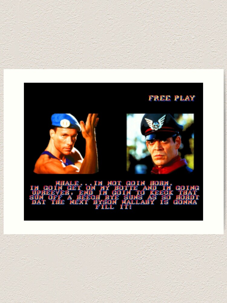 Street Fighter The Movie Guile Vs M Bison Byson Wallaby Art