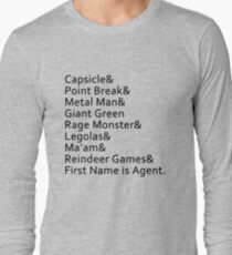 Nicknames Long Sleeve T-Shirt