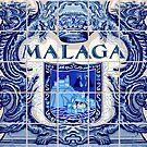 «Malaga Azulejo Azulejos De Cerámica Andalucia España Español» de aurielaki