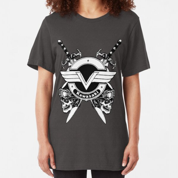 Kawasaki Vulcan skulls & swords Slim Fit T-Shirt