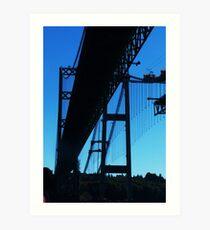 Old bridge New bridge Art Print