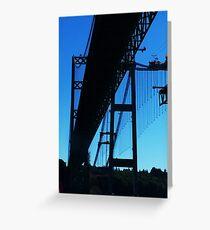 Old bridge New bridge Greeting Card