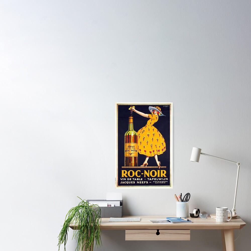 Vintage Wine Advertisement  Poster Poster