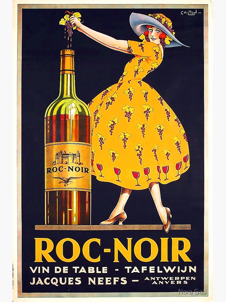 Vintage Wine Advertisement  Poster by NoraMohammed