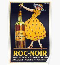 Póster Cartel del anuncio del vino del vintage
